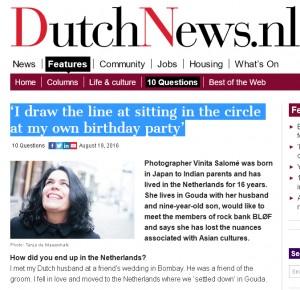 Dutchnews interview Vinita Salome